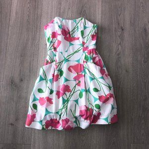 Lilly Pulitzer strapless Dress Floral 00
